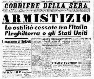 Armistizio 1943 Corriere della sera