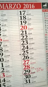 Calendario Orario estivo 2016