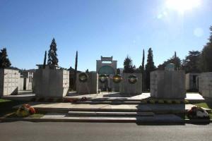 Il Campo della Gloria con i resti di oltre 900 partigiani