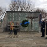 Cerimonis Vittime civili cadute in Guerra, assessore M. Giusta