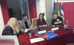Conferenza stampa con l'assessore Marco Giusta e l'amministratrice di AFC Michela Favaro