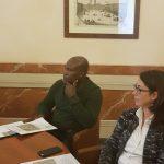 Consigliera Anna Merlin e Tope Benson Ogunbodede di AFC