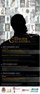 Davide Calandra locandina programma