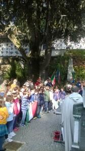 Il Coro dei bambini e degli alpini a Cavoretto 8 ottobre 2015