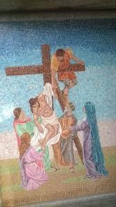 Mosaicio dettaglio tomba al Monumentale