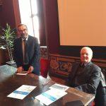 Presidente Commissione garanzia opere cimiteriali Marco Devecchi e Valentino Castellani