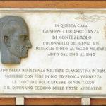 Targa in memoria di Cordero Lanza