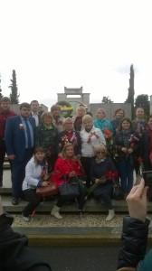 foto gruppo russi 9 maggio 2016