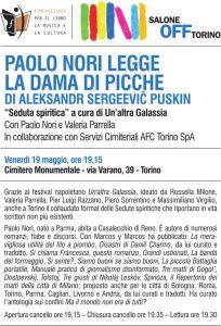 Locandina evento Paolo Nori legge Puskin