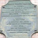 Targa dedicata a PAOLO SACCHI